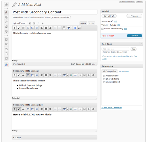 Secondary HTML Content Plugin Video Overview