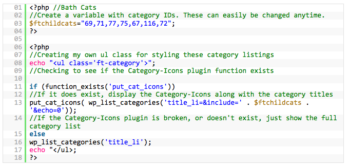 Using the Category-Icons plugin and Thematic to create custom category pages
