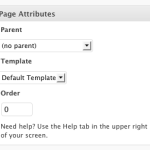 Learn About WordPress Page Attributes