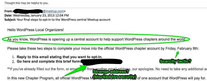WordPress Meetup Group Scam or Real