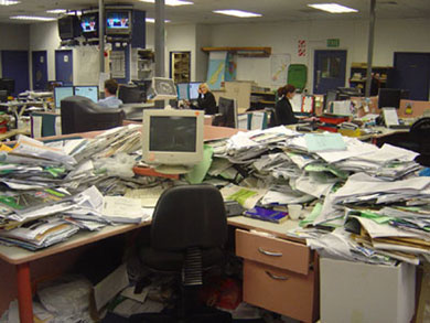 Messy Desk Image