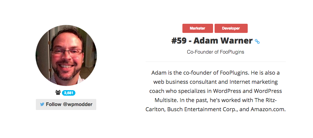 Adam W. Warner - WordPress Consultant